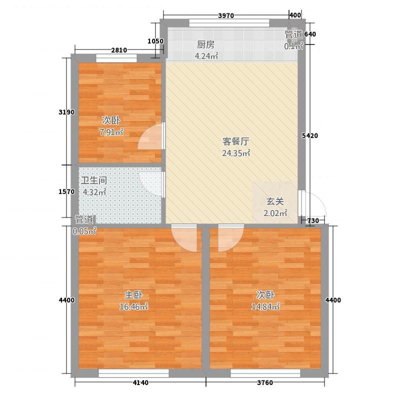 半山国际3214.12㎡A户型3室2厅1卫