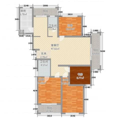 华源上海城三期4室1厅2卫1厨178.00㎡户型图