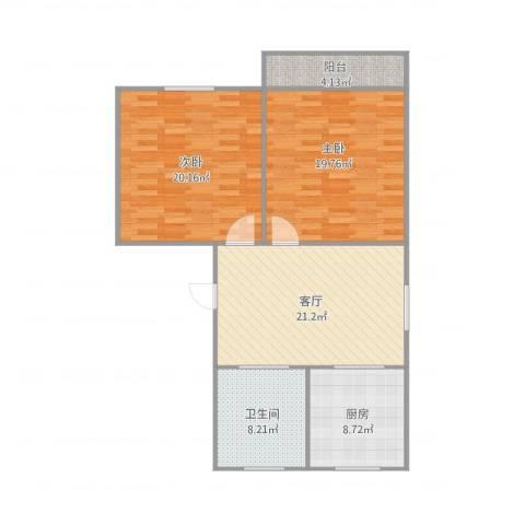申莘新村2室1厅1卫1厨109.00㎡户型图
