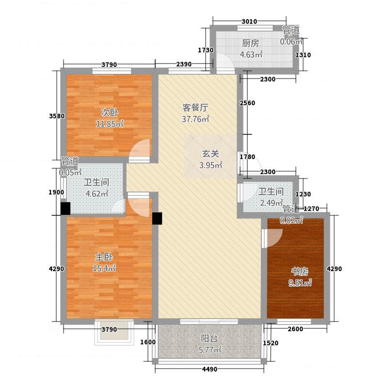 天润嘉园13212.20㎡户型3室2厅2卫1厨