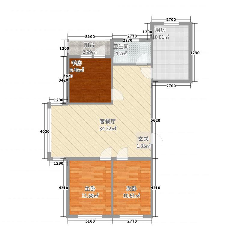 映豪小区318.20㎡户型3室2厅1卫