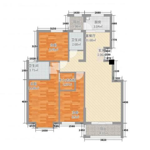 嘉和城3室1厅2卫1厨23312.00㎡户型图