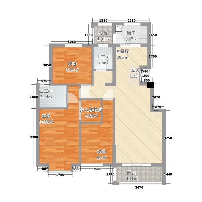 嘉和城213111.88㎡C2-1户型3室2厅2卫1厨