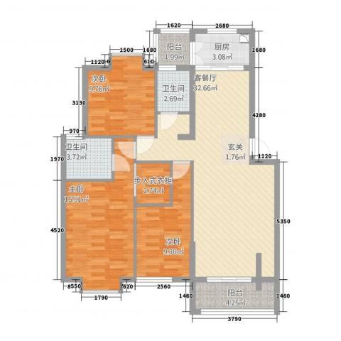 嘉和城3室1厅2卫1厨133123.00㎡户型图
