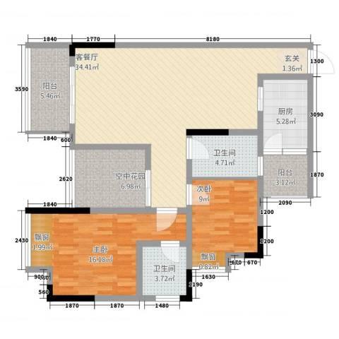 华升・睿尚城2室1厅2卫1厨23111.00㎡户型图
