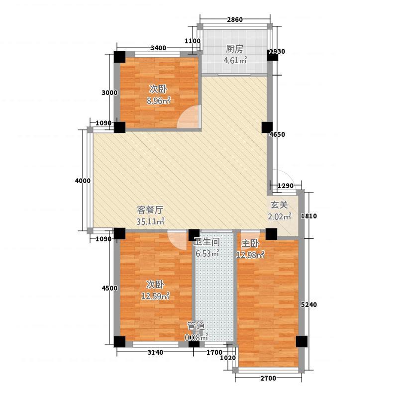 中鼎佳园317.42㎡户型3室2厅1卫