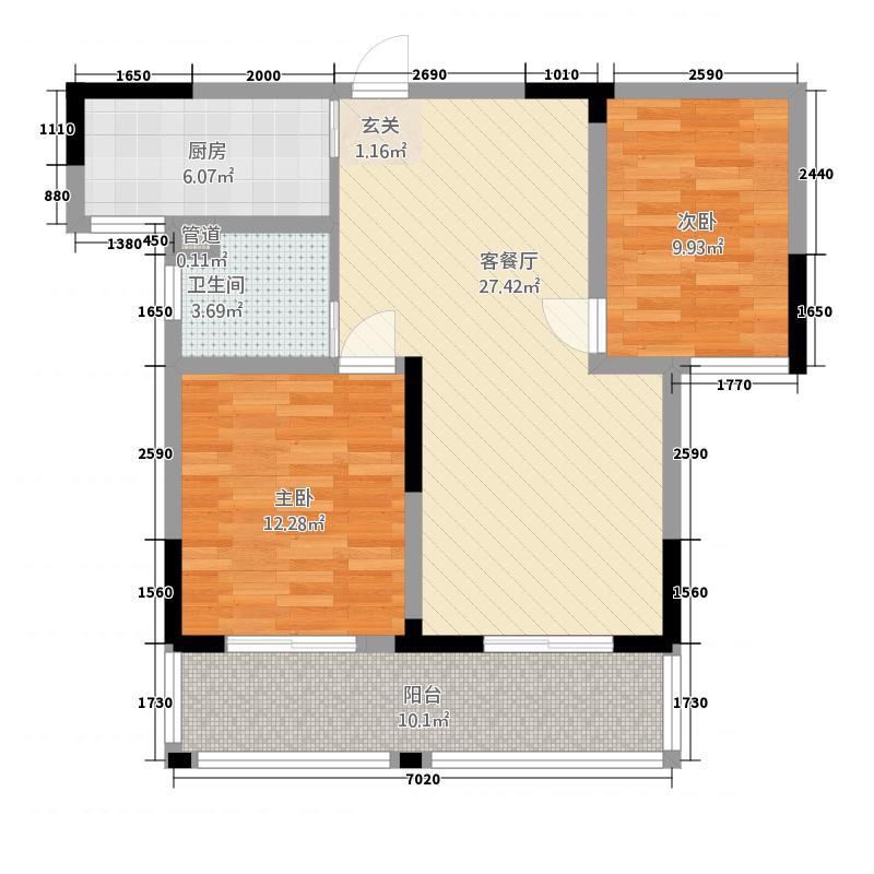 山水瑞园9968_调整大小户型2室2厅1卫1厨