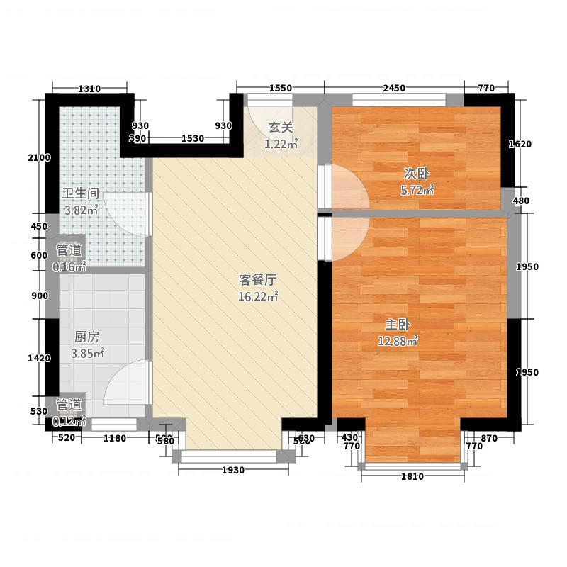 富达园263.61㎡SOHO公寓户型2室2厅1卫