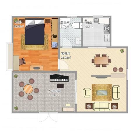 缇香镜湖湾1室1厅1卫1厨78.00㎡户型图