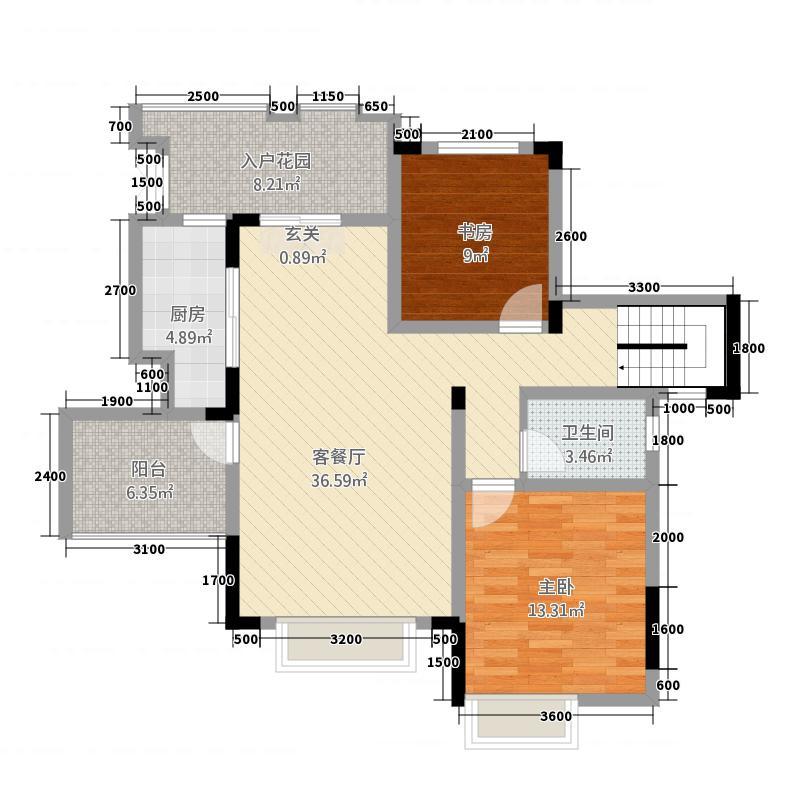 新康璞山51.20㎡C5-1洋房户型2室1厅1卫1厨