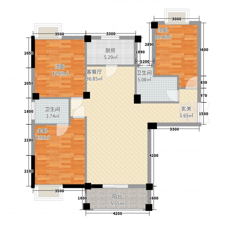 冠南汇侨城132124.72㎡户型3室2厅2卫1厨