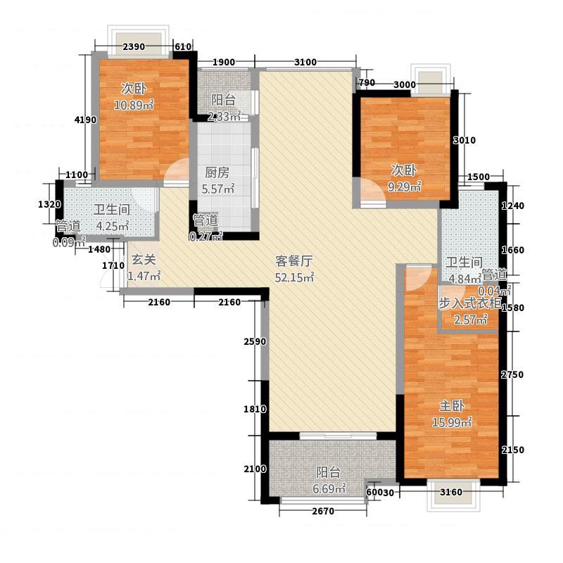 盛唐至尊1147.28㎡三期1号楼A3-01户型3室2厅2卫1厨