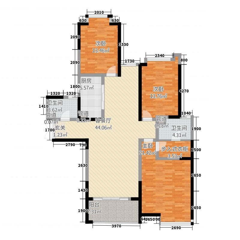 盛唐至尊2142.12㎡三期2号楼B2-01户型3室2厅3卫1厨