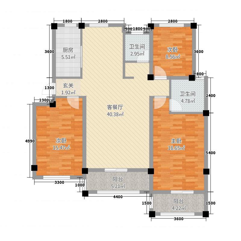 盛世御景3.20㎡O库・12881户型3室2厅2卫