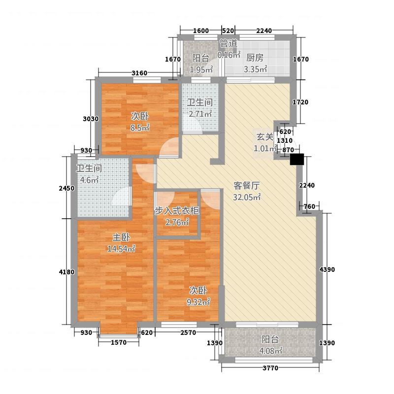 嘉和城33312.35㎡C3-3户型3室2厅2卫1厨