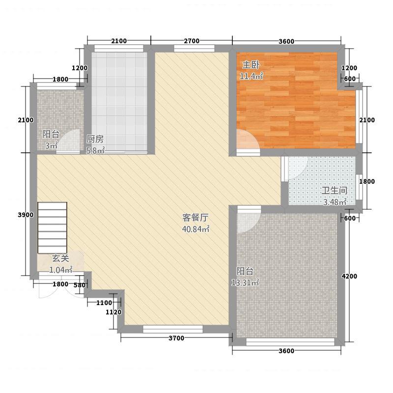 大地美居5421.15㎡A5下户型4室2厅2卫1厨