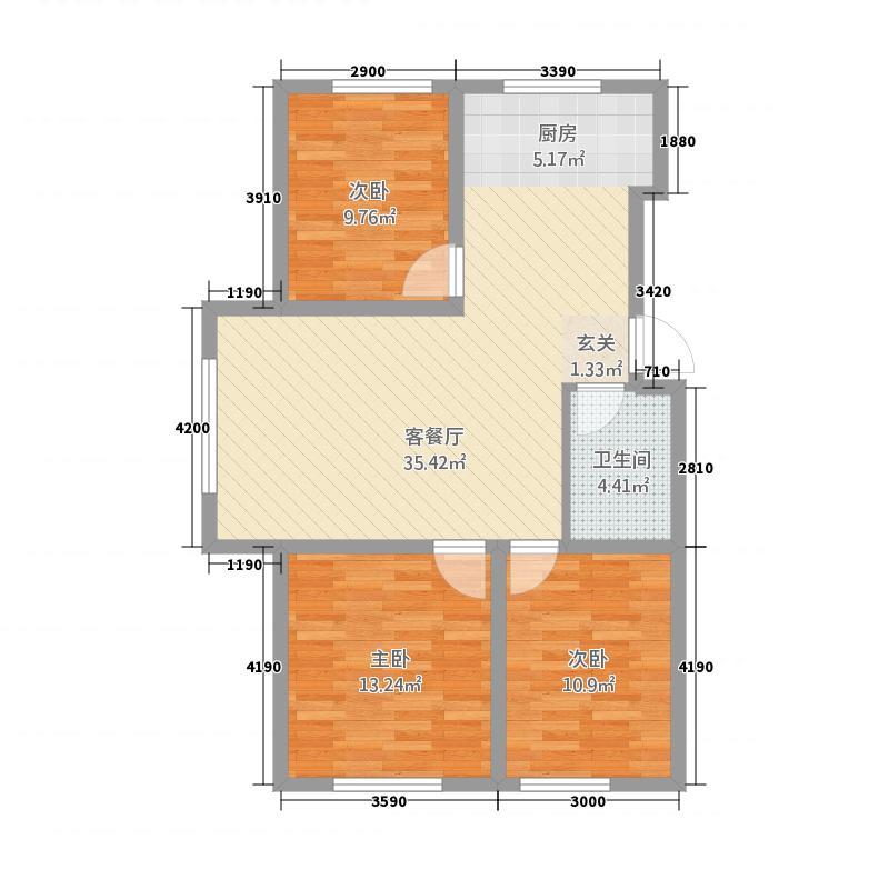 赛洛城11111.20㎡(11)户型3室1厅1卫1厨