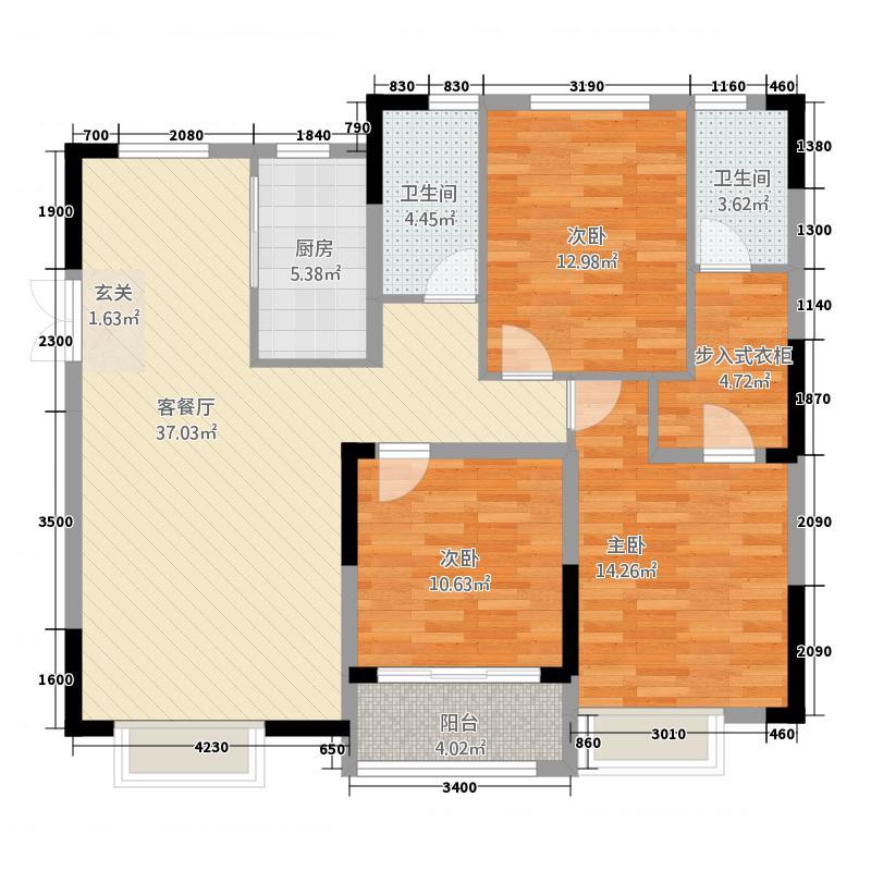 盛世御景3132.20㎡F库・户型3室2厅2卫
