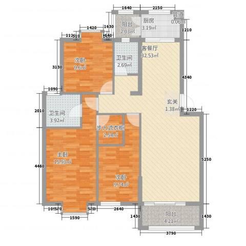 嘉和城3室1厅2卫1厨123123.00㎡户型图