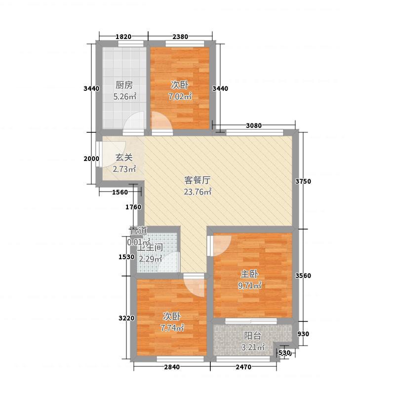 和扬桐树湾1286.20㎡C1-2库・户型3室2厅1卫1厨