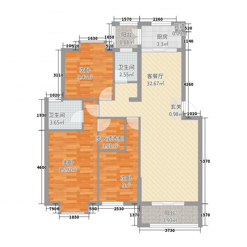 嘉和城113121.77㎡C1-1户型3室2厅2卫1厨