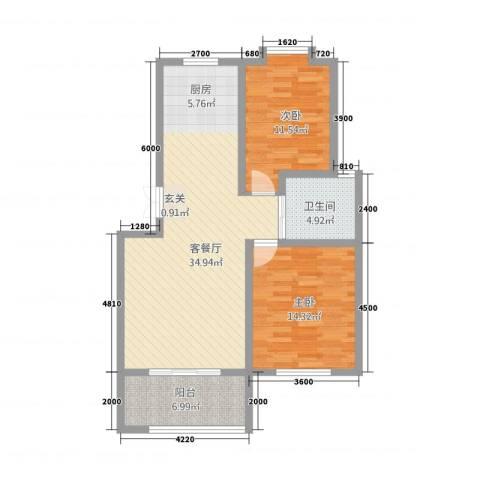 长江国际花园2室1厅1卫0厨185.00㎡户型图