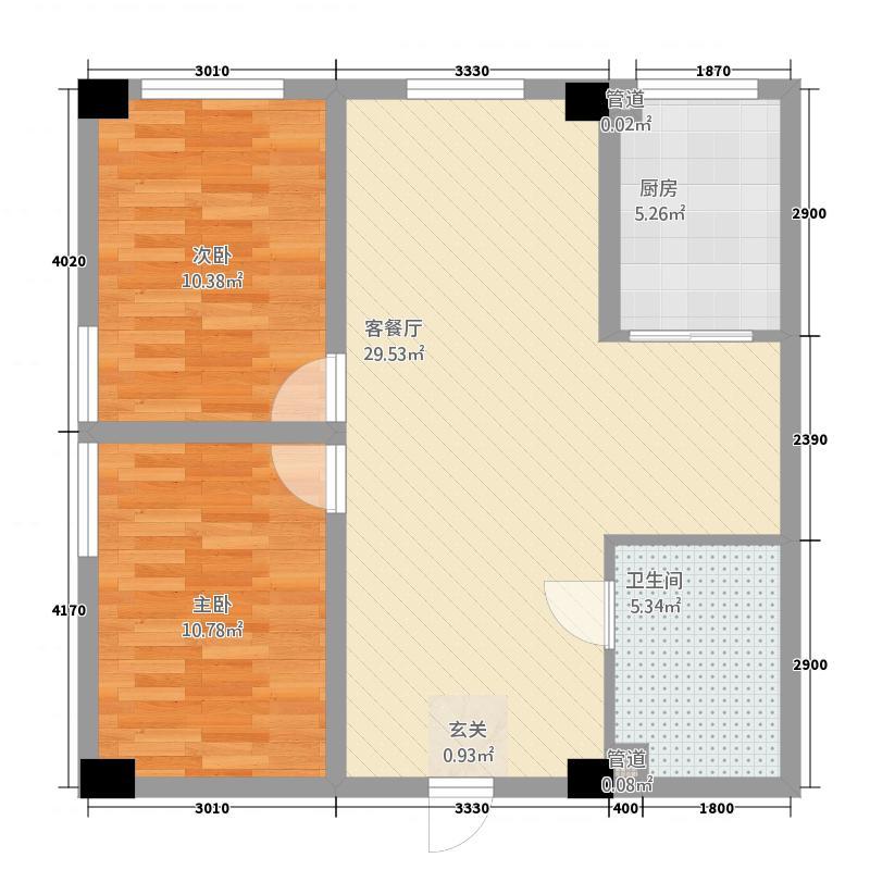 天正温泉公馆63.10㎡户型