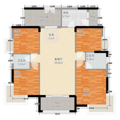 和合国际城二期4室1厅2卫1厨2146.00㎡户型图