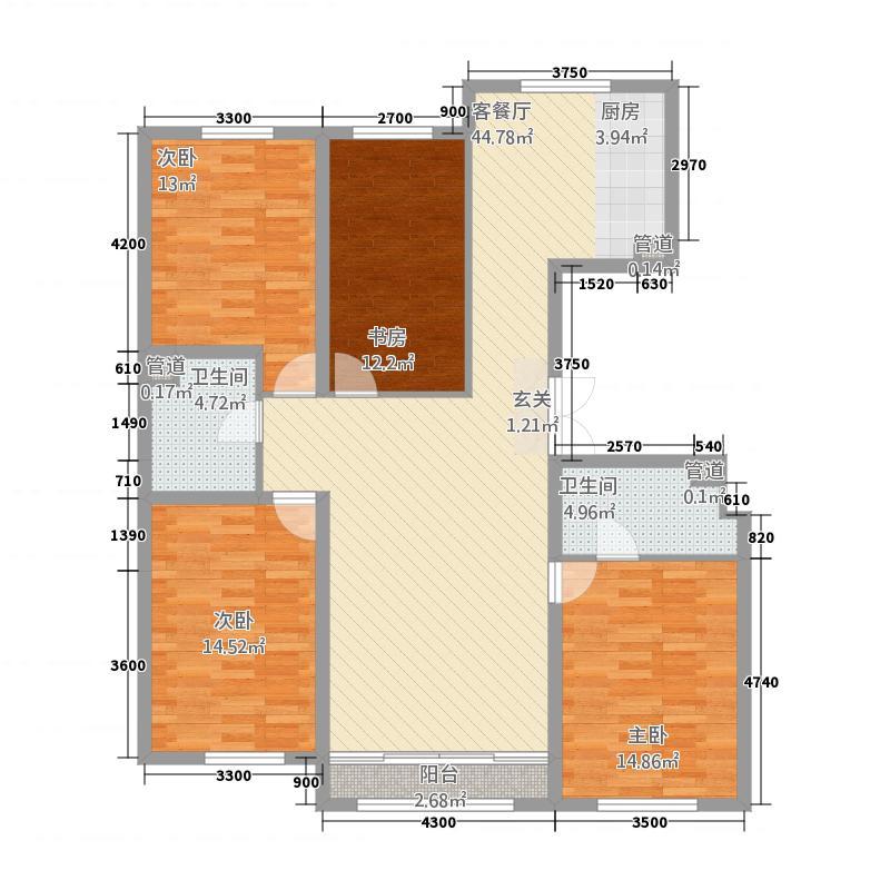 福兴天地315.38㎡(3)户型4室2厅2卫1厨