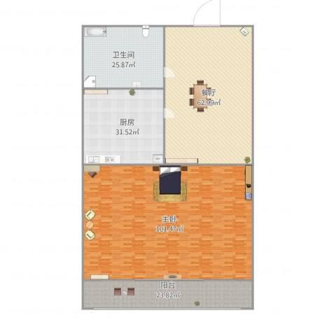 秀月居1室1厅1卫1厨318.00㎡户型图