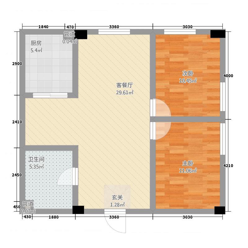 天正温泉公馆63.43㎡温泉公馆户型