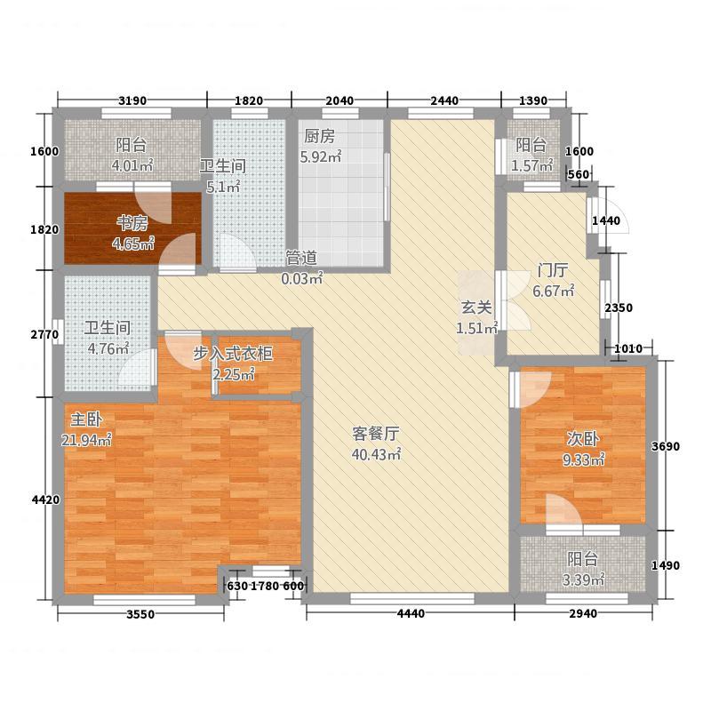 益田瓦萨小镇14.20㎡三期洋房B户型42室2厅2卫1厨