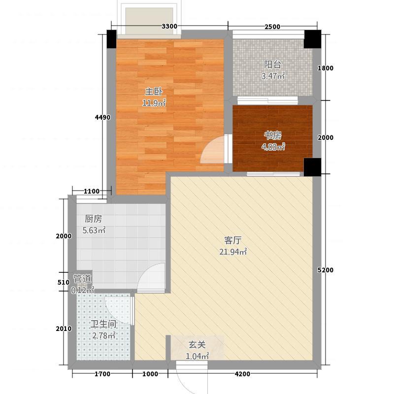 世纪美郡42368.82㎡4-2-3户型2室2厅1卫1厨