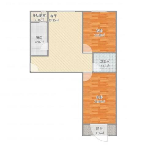 永升嘉园2室1厅1卫1厨87.00㎡户型图