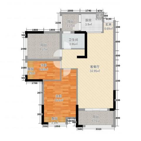 金融街中央领御2室1厅1卫1厨347.00㎡户型图