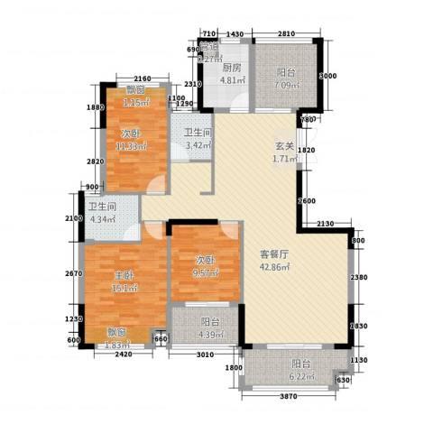 金融街中央领御3室1厅2卫1厨34129.00㎡户型图