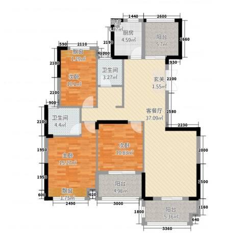 金融街中央领御3室1厅2卫1厨34126.00㎡户型图