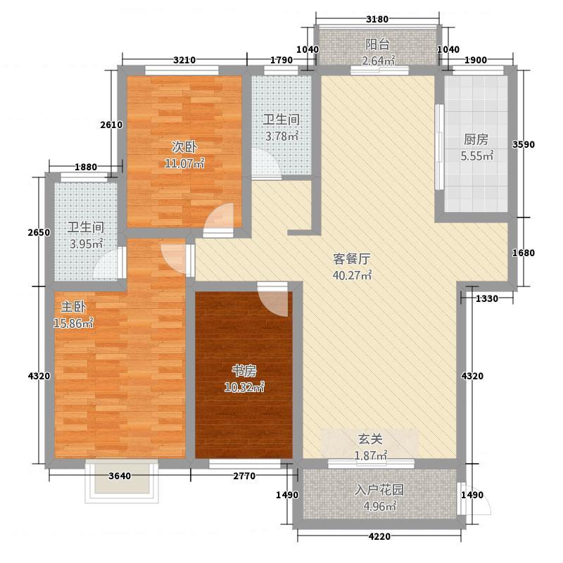 世纪豪庭2322142.50㎡户型3室2厅2卫