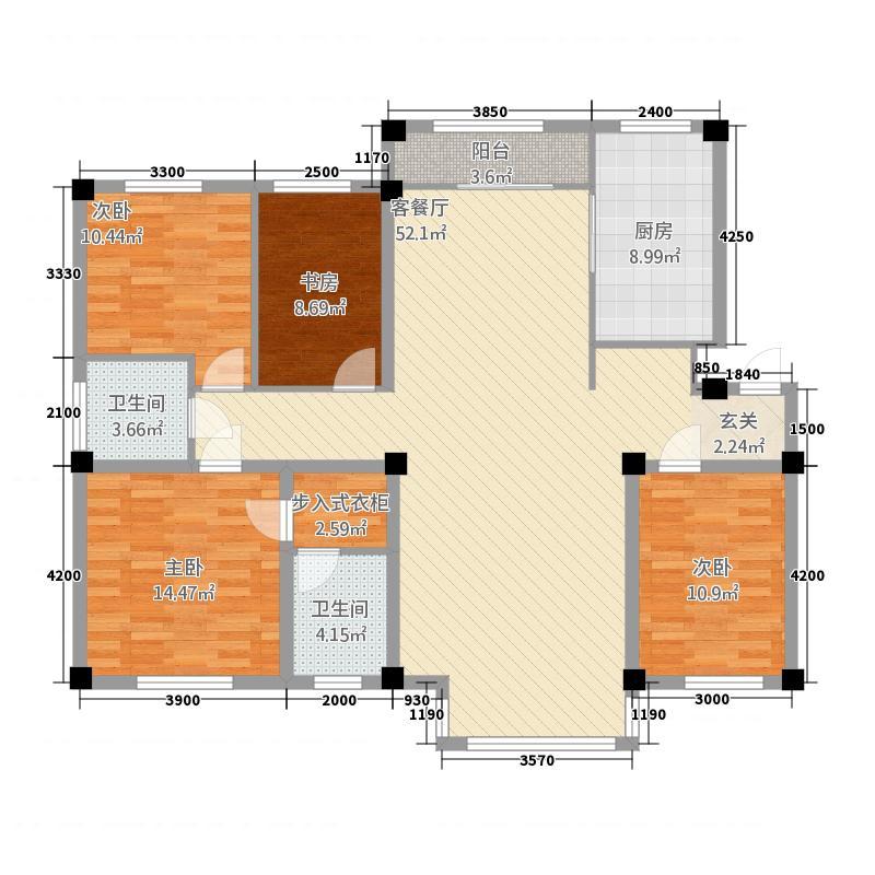 赛洛城14153.20㎡(1)户型4室2厅2卫1厨