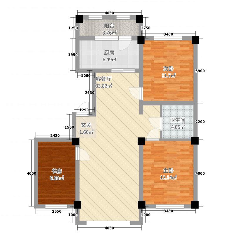 赛洛城1118.20㎡(19)户型3室2厅1卫1厨