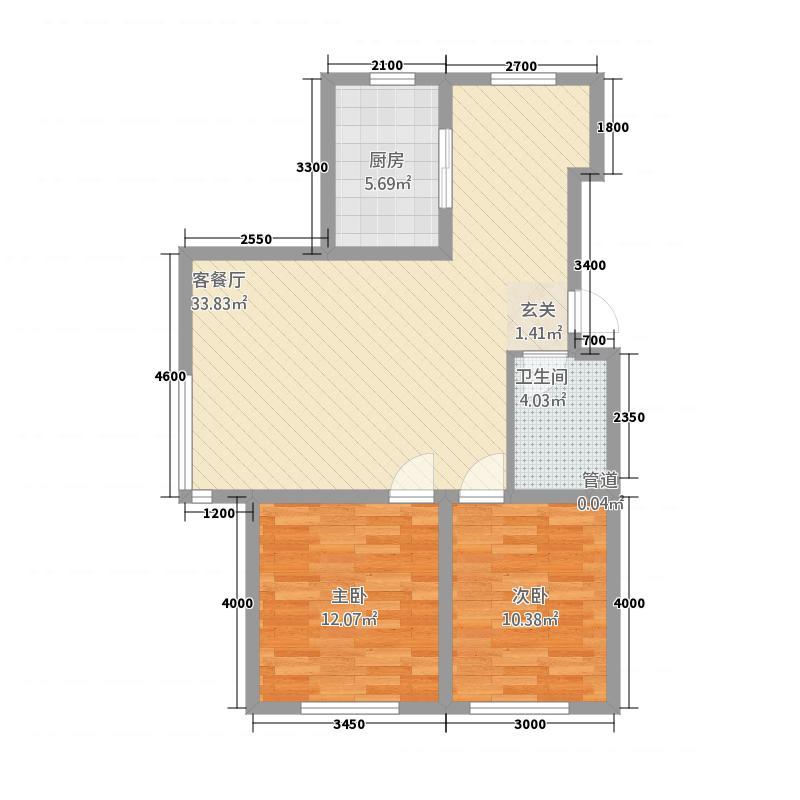赛洛城1311.20㎡(13)户型2室2厅1卫1厨