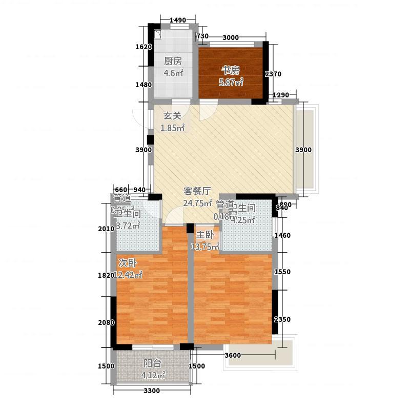 格林格林32217.20㎡I户型3室2厅2卫1厨