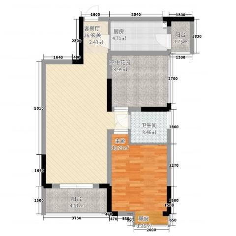 金域城邦1室1厅1卫1厨2274.00㎡户型图