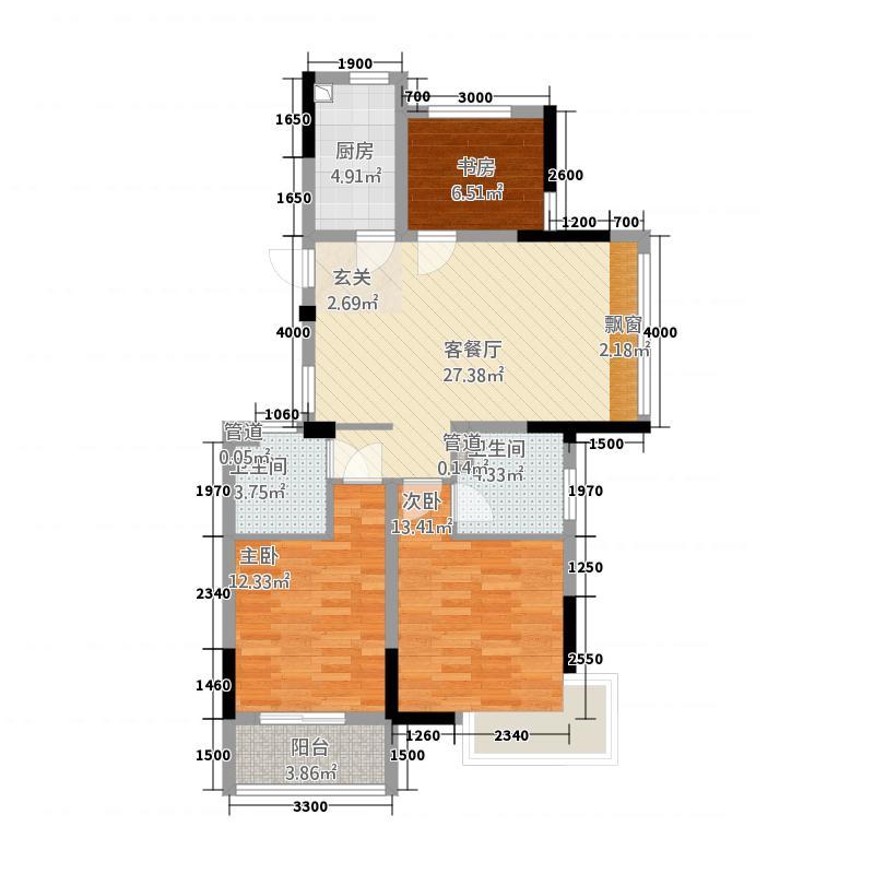 格林格林32216.20㎡F户型3室2厅2卫1厨