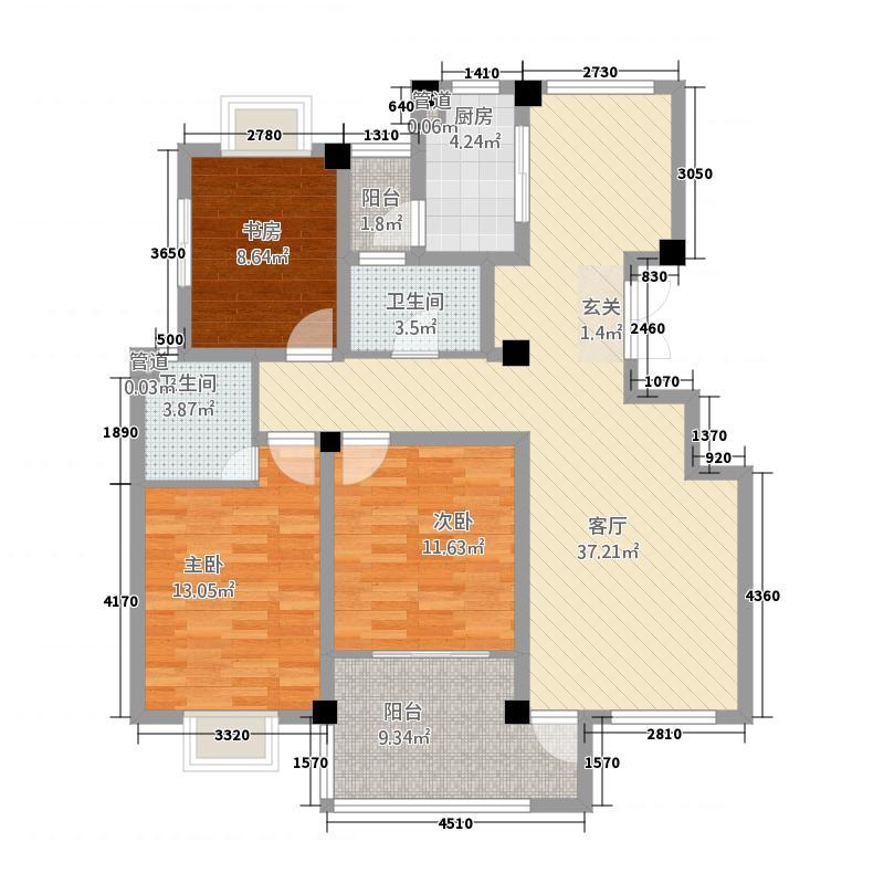 恒基・未来城135.52㎡2户型2室2厅1卫1厨
