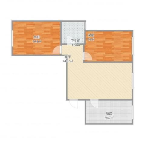 白盆窑天兴家园郭先生大两居2室1厅1卫1厨89.00㎡户型图