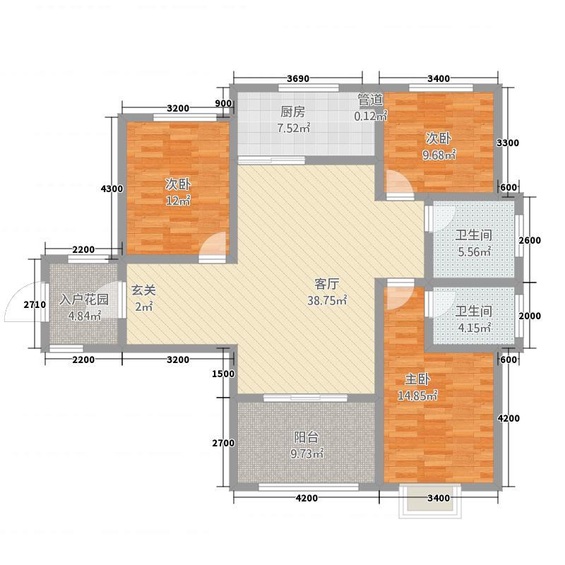 凤凰永安居11213.20㎡11#A2库・户型3室2厅2卫