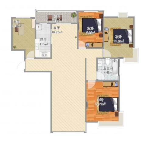 时代豪庭4室1厅1卫1厨128.00㎡户型图