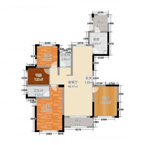 凯旋公馆3室1厅2卫1厨32144.00㎡户型图