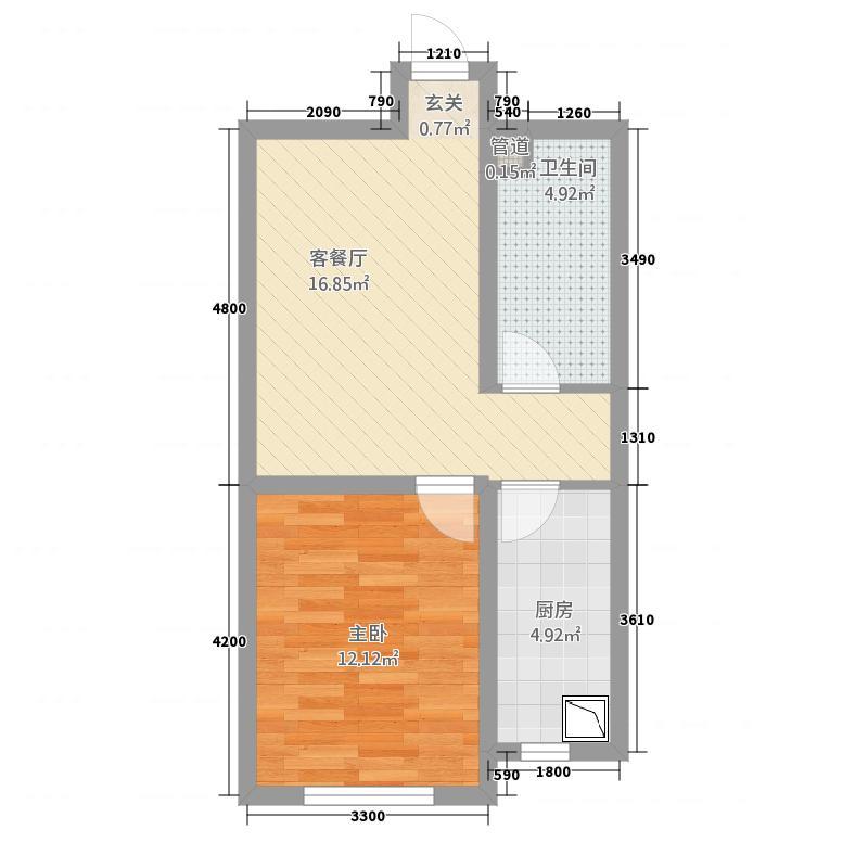 澳洲领地156.62㎡D户型1室1厅1卫